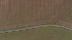 AERIAL United States-Flight Over Fields And Woods Stock Footage