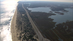 AERIAL United States-Bethany Beach - stock footage