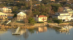 AERIAL United States-Houses On Kitty Hawk Bay Stock Footage
