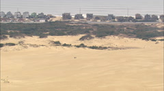 AERIAL United States-Jockey's Ridge State Park And Sand Dune Stock Footage