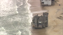 AERIAL United States-Beach Houses At Rodanthe Stock Footage