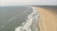 AERIAL United States-Flight Along Shoreline Of Cape Hatteras National Shoreline Stock Footage