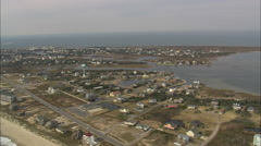 AERIAL United States-Hatteras Stock Footage