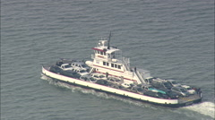 AERIAL United States-Ocracoke Ferries Stock Footage