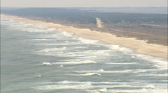 AERIAL United States-Beach Along Ocracoke Island Stock Footage
