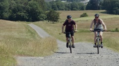 Super Slow Motion Mountain Biking Uphill - High Frame Rate 2 Stock Footage