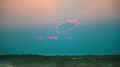 The picturesque sky and landscape background. evening time. Time lapse Stock Footage