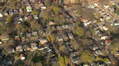 AERIAL United States-Historic Oakwood District Stock Footage