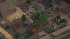 AERIAL United States-Meredith College Sustainability Centre Stock Footage