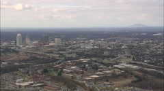 AERIAL United States-Approaching Winston Salem Stock Footage