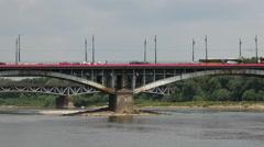 The Poniatowski Bridge in Warsaw Poland Stock Footage