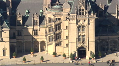 AERIAL United States-Biltmore Mansion From The East Stock Footage