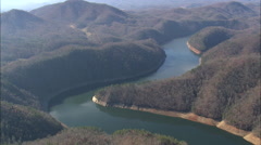AERIAL United States-Fontana Lake - stock footage