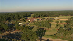 AERIAL United States-Pinehurst Resort Clubhouse Stock Footage