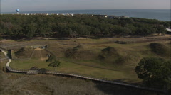 AERIAL United States-Fort Fisher - stock footage