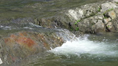 Waterflowing Over Rocks Ottauquechee River Vermont Stock Footage