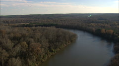 AERIAL US-Congaree River Stock Footage