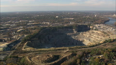AERIAL United States-Quarries Stock Footage