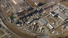 AERIAL United States-Industrial Site Stock Footage