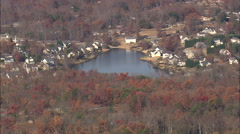 AERIAL United States-Lakes And Villages Stock Footage