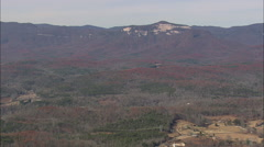 AERIAL United States-Revealing Table Rock Mountain Stock Footage