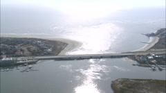 AERIAL United States-Flight Revealing Sullivan Island Stock Footage