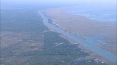 AERIAL United States-Saltmarash And Coastal Waterway - stock footage