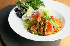 Thai Jumbo Shrimp Salad - stock photo