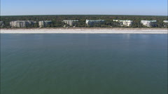 AERIAL United States-Beach Front Property Stock Footage