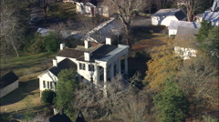 AERIAL United States-Robert Toombs House Stock Footage