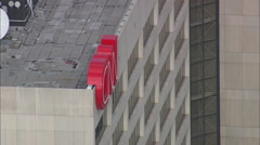 AERIAL United States-Cnn Headquarters - stock footage