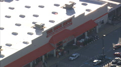 AERIAL United States-Home Depot Store Stock Footage