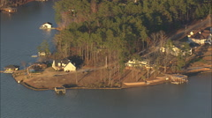 AERIAL United States-Lake Sinclair At Dusk Stock Footage