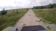 ATV Driver Point of View Stock Footage