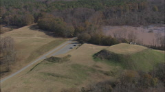 AERIAL United States-Ocmulgee Mounds Stock Footage