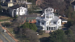 AERIAL United States-Historic Houses In Macon Stock Footage