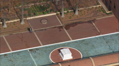AERIAL United States-Martin Luther King Jr's Gravesite And Reflecting Pool Stock Footage