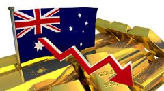 Currency collapse - Australian dollar Stock Illustration