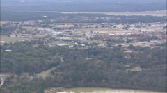 AERIAL United States-Flight Revealing Ridge In Providence Canyon Stock Footage