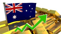 Currency appreciation - Australian dollar Stock Illustration