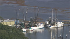 AERIAL United States-Valona And Fishing Boats Stock Footage