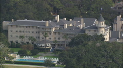 AERIAL United States-Jekyll Island Club Hotel And Resort Stock Footage