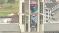 AERIAL United States-World Golf Village And Golf Hall Of Fame Stock Footage