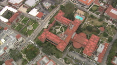AERIAL United States-Flagler College Stock Footage