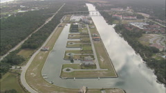 AERIAL United States-Intracoastal Waterway And Waterside Developments - stock footage