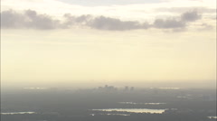 AERIAL United States-Approaching Orlando At Dusk Stock Footage