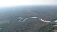 AERIAL United States-Flight Over Choctawhatchee River Stock Footage