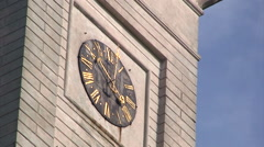 Clock at the town hall tower of Lviv Stock Footage
