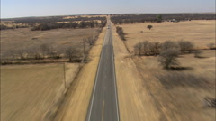 AERIAL United States-Flight Along Straight Road Stock Footage
