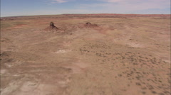 AERIAL United States-Small Butte In Painted Desert Stock Footage